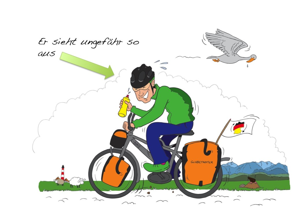 Sebastian auf dem E-Bike