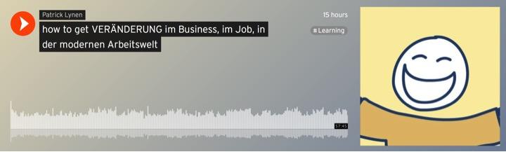 """""""how to get VERÄNDERUNG im Business, im Job, in der modernen Arbeitswelt"""""""