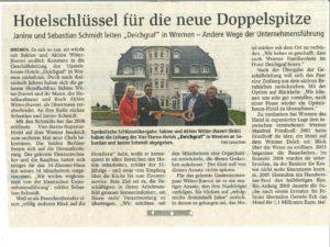 Artikel in der Nordseezeitung vom 02.11.16